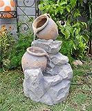 Polyresin and Fiberglass Tiered Pot Fountain