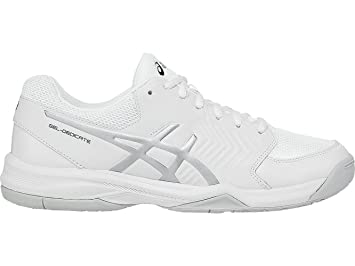 ASICS GEL DEDICATE 5 CLAY BLANCHE ARGENT: : Sports