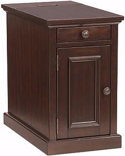 Beau Ashley Furniture Signature Design   Laflorn Chairside End Table    Rectangular   Sable Brown