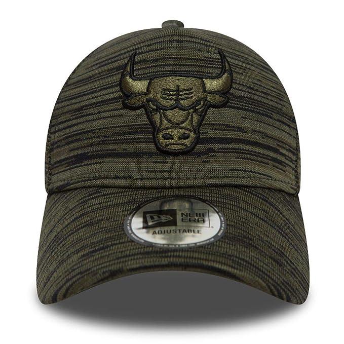 A NEW ERA Gorra béisbol Engineered Fit Aframe Chicago Bulls Verde Oliva-Negro - Ajustable: Amazon.es: Ropa y accesorios