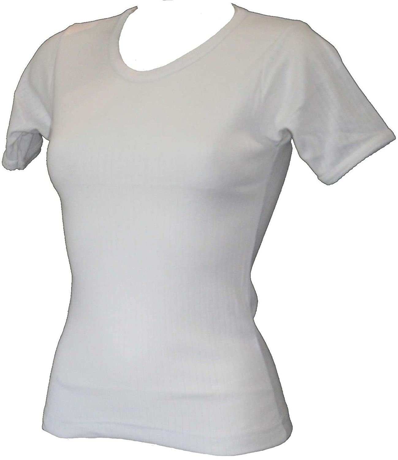 Adore Home Ladies White Warm Thermal Short Sleeved T-shirt Sizes L/XL