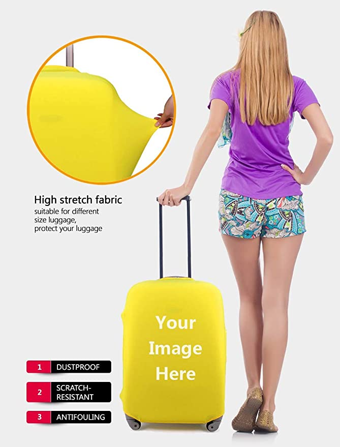 Dreaweet Summer Beach Luggage Covers Travel Luggage Cover Spandex Travel Luggage Cover Suitcase Protector Fits 18-21 inch Luggage case