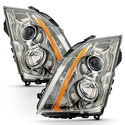 ACANII - For 2008-2013 Cadillac CTS Headlights Halogen Headlamps Head Lights Lamps Replacement Driver+Passenger Side (Cadillac Cts Headlight Assembly)