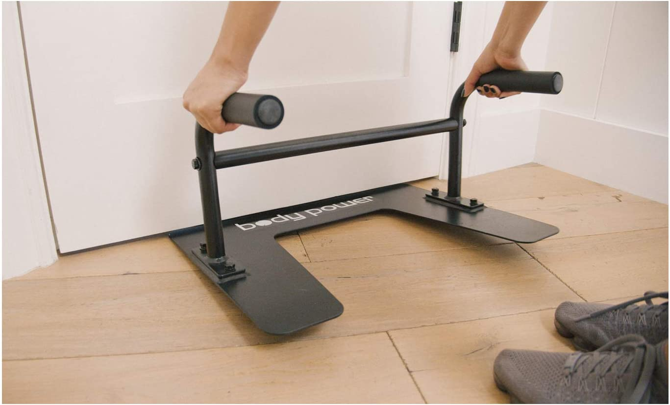 Body Power 2 in 1 Under Door Sit up and Push up Portable Fitness Equipment Dip Workout Parallel Bars PL2000