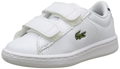 Lacoste Carnaby Evo BL 1 White/Navy Synthetic 10 M US Infant
