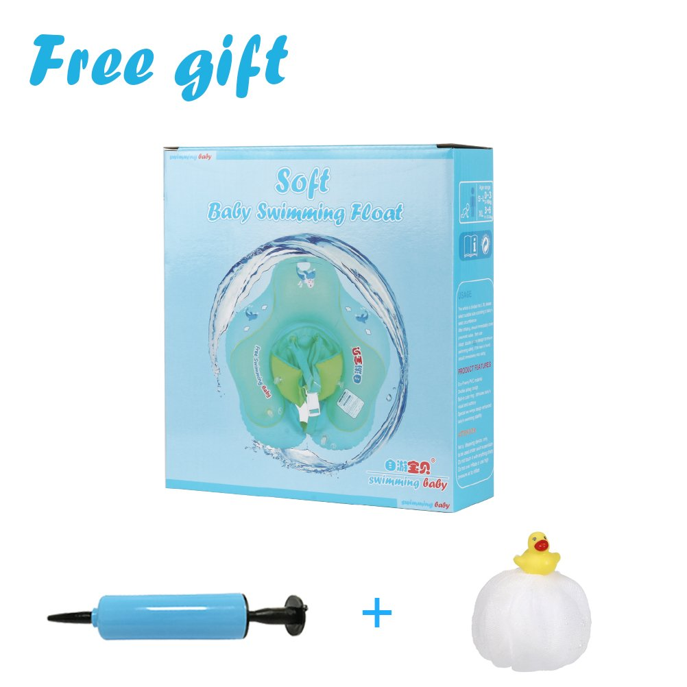 Green, S Free Swimming Baby Inflatable Baby Swimming Float-Helps Baby Learn to Kick and Swim With a Inflate Follower for the Age of 3-36 Months