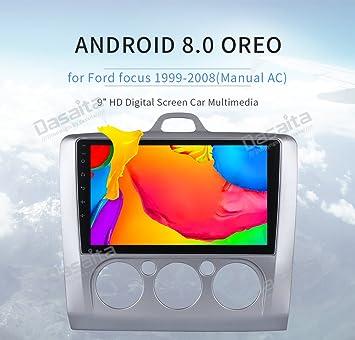 """Dasaita 9"""" 1 Din Android 8.0 Autoradio Radio de Coche Bluetooth Manos Libres para Ford"""