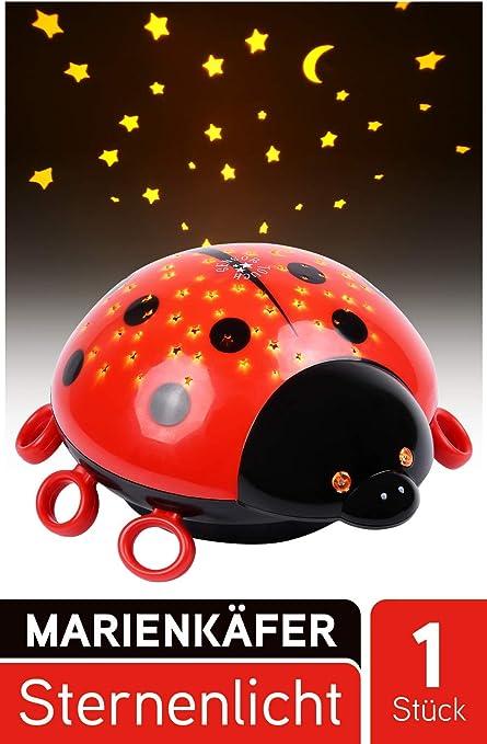 HEITECH LED Proyector estrellas Mariquita - Luz nocturna LED con ...