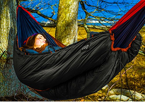 ENO Eagles Nest Outfitters - Vulcan Underquilt, Ultralight Camping Quilt, Orange/Charcoal by Eagles Nest Outfitters (Image #7)
