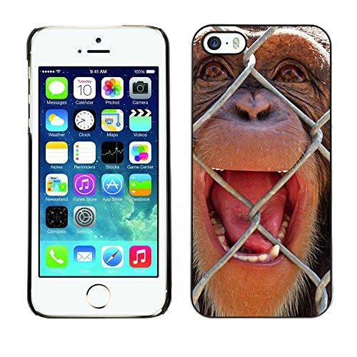 Omega Case PC Polycarbonate Cas Coque Drapeau - Apple iPhone 5 / 5S ( The Chimpanzee )