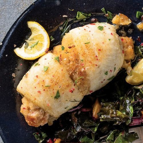Omaha Steaks 2 (4.5 oz.) Stuffed Sole with Scallops and Crabmeat