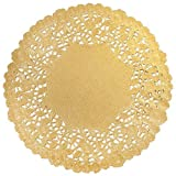 Hygloss Products 6 Inch Gold Foil Doilies - Round Doilies Made in the USA, 12 Pack