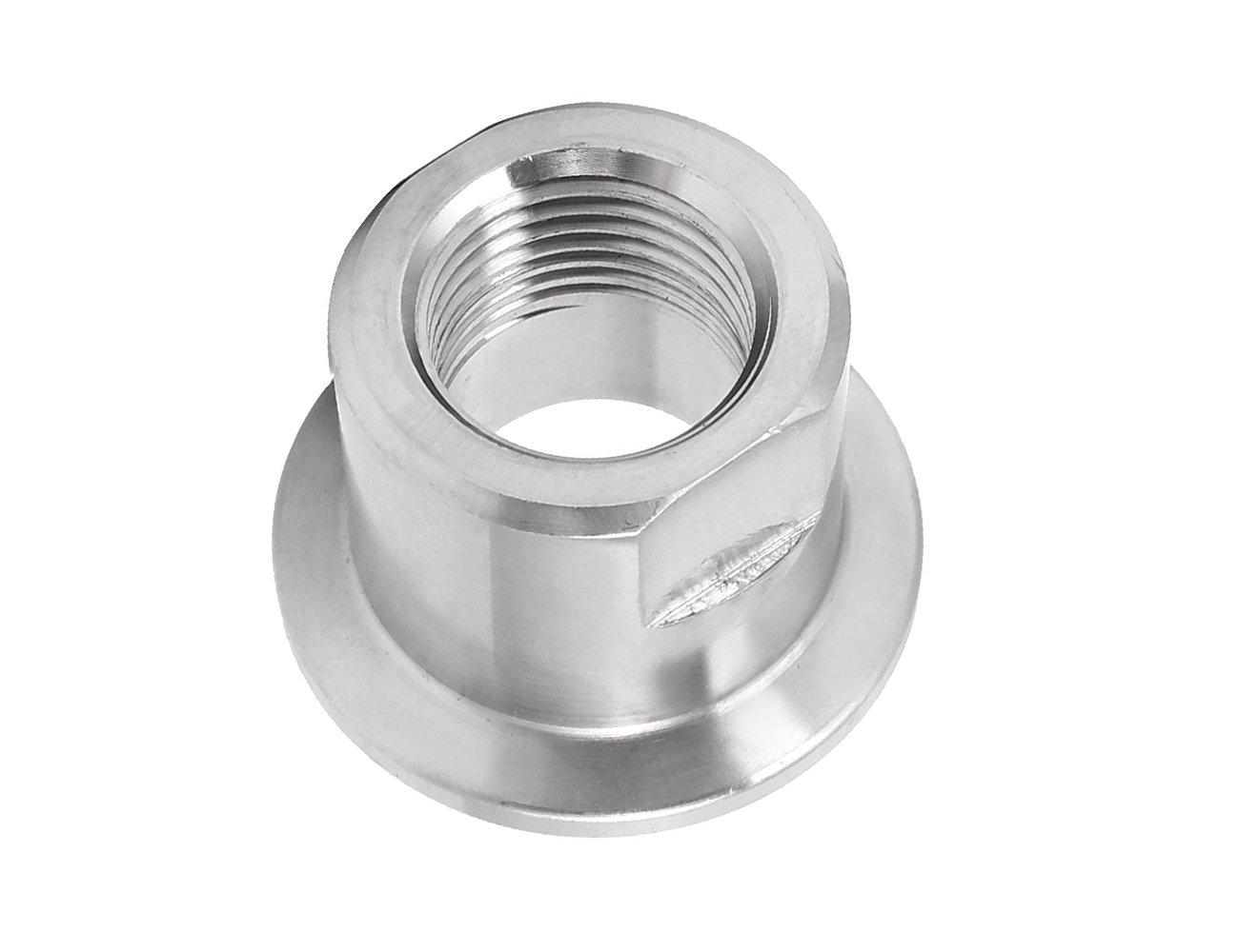 KF25 Vacuum Flange 1/2BSP Female Thread 304 Stainless Steel Barb Adapter Silver Tone
