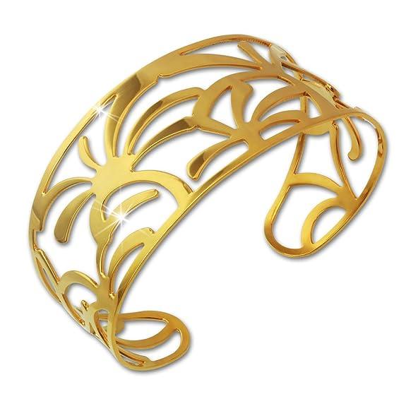 brazalete de palmeras para mujer de acero chapado en orohttps://amzn.to/2SglvNe