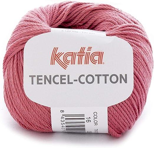 Lanas Katia Tencel-Cotton Ovillo de Color Coral Cod. 16: Amazon.es ...