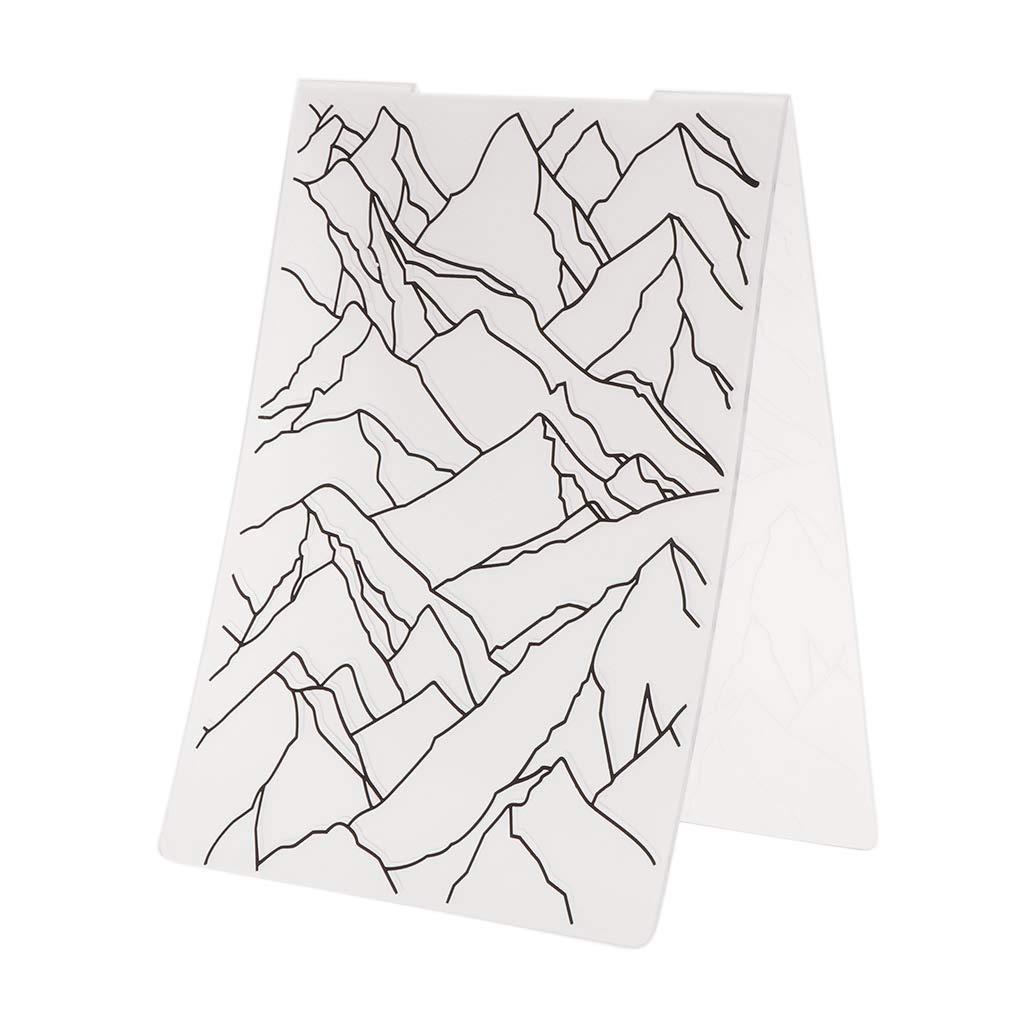 Transparent Plastik Haorw Pr/ägeschablone Berg Muster