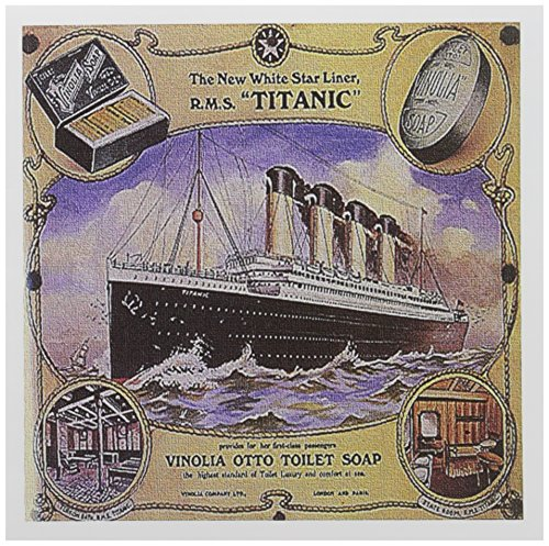Cruise Collage (3dRose Image of Rare Collage Ad for The Titanic Cruise 6 x 6 Inches Greeting Cards, Set of 12 (gc_163164_2))
