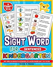 Sight Words for Kindergarten Reproducible with Amazing Engaging Ability for Ever: Sight Words Kindergarten Ideal for Recognizing & Learning Trends for Kids