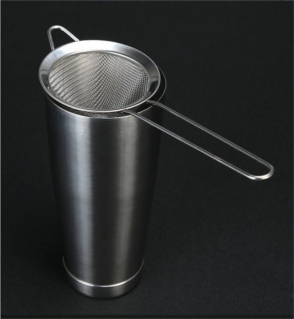 Cocktail Fine Strainer Stainless Steel Conical Mesh Strainer Professional Bar Too Sliver