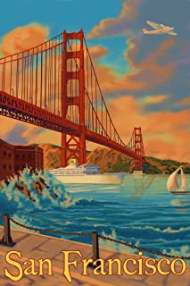 product image for San Francisco, California - Golden Gate Bridge (24x36 Giclee Gallery Print, Wall Decor Travel Poster)