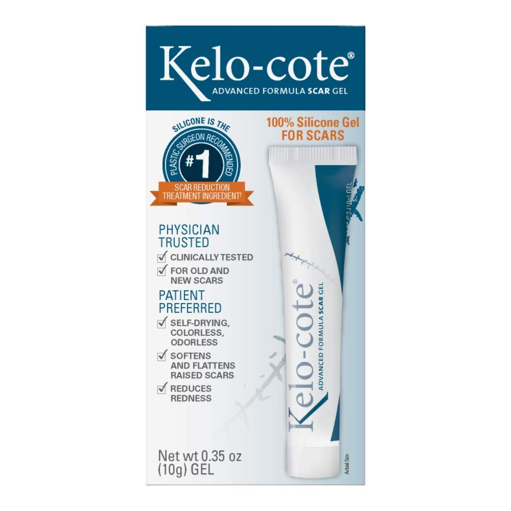 Kelo-cote Advanced Formula Scar Gel, Improves The Appearance of Old and New Scars, 10 Grams