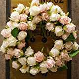 Decorative Seasonal Front Door Wreath Best Seller - Handcrafted Wreath for Outdoor Display in Fall, Winter, Spring, and Summer