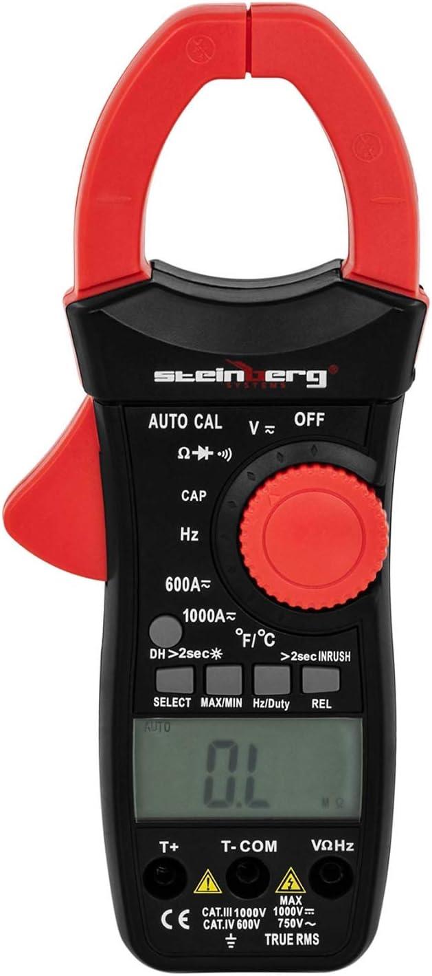 Steinberg Systems Multímetro De Pinza Digital SBS-CM-600 (LCD, CAT ...