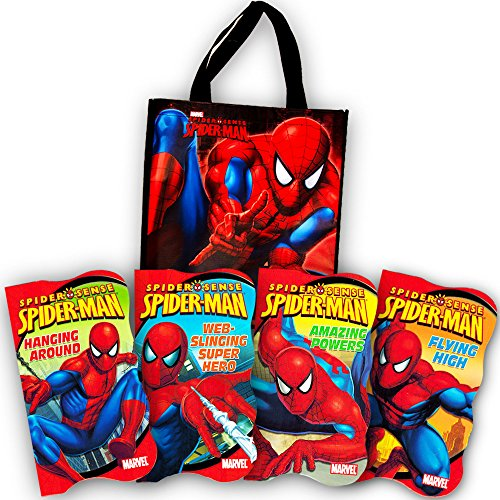 Marvel Spiderman Tote Bag with Spiderman Board Book Set