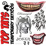 Temporary Tattoo Set The Joker From Suicide Squad Amazon Co Uk