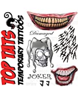 Temporary tattoo set the joker from suicide squad amazon for Joker damaged tattoo