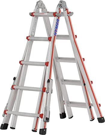 Escalera telescópica Telestep 4x6 Spr. L1,80-6,26 m con brazo Hymer 814224: Amazon.es: Bricolaje y herramientas