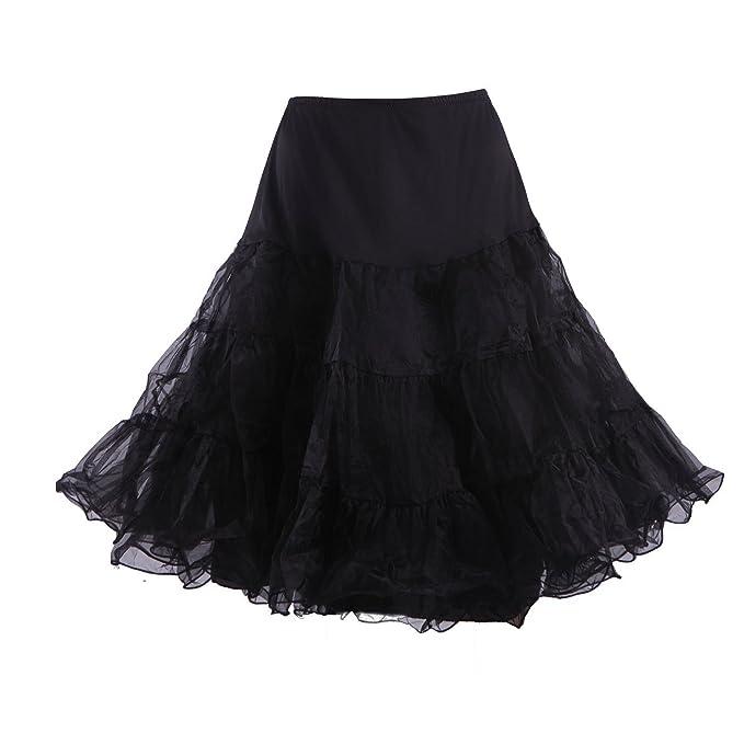 66649634c9e HDE Women s Plus Size Petticoat Vintage Swing Dress Underskirt Tutu Skirt  (2XL-3XL