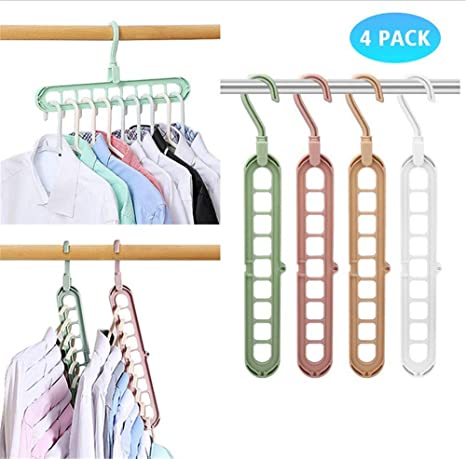 Adayo Atlaswaves Magic Clothes Hanger Perchas Que ahorran Espacio Paquete de 5