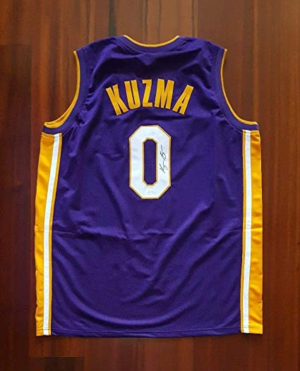 cheap for discount 384d0 babac Kyle Kuzma Signed Autographed Jersey Los Angeles Lakers JSA ...