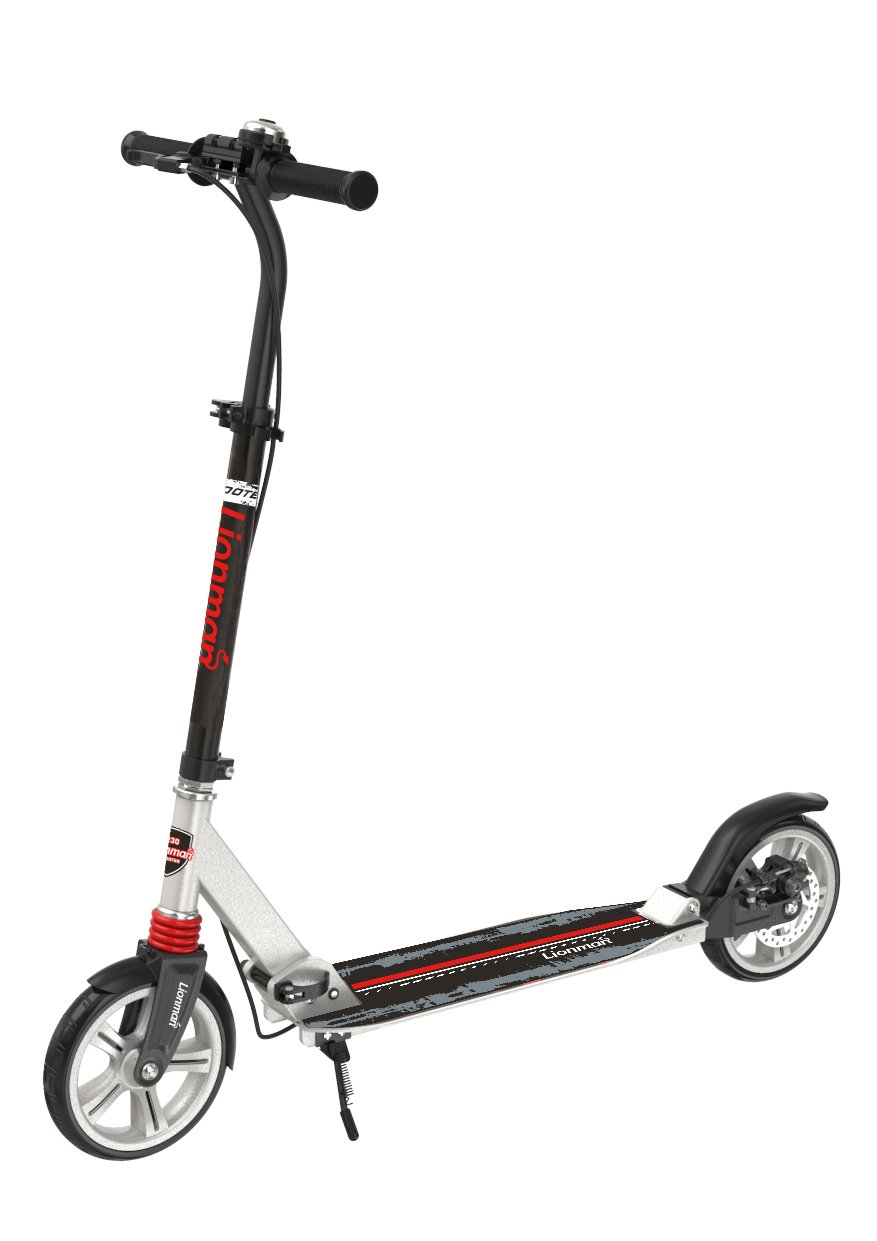 Dicoosy K-9031 Aluminum Foldable Disc Brake Two Wheels Red Adult Kick Scooter T Bar