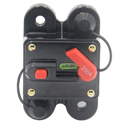 Car Audio 300Amp Circuit Breaker Manual Reset Fuse Holder Tool Switch Off cby