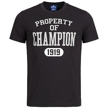 Champion Classic Té – Camiseta para Hombre Gris, 211394-2, Large