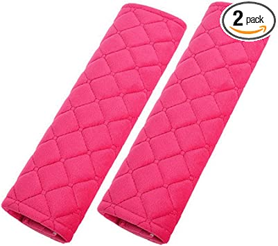 Black Seatbelt Pads,Car Seat Belt Shoulder Pads,Soft Cotton Blend Strap Covers Adults Children,Thick Protector Cover for Car Seatbelt//Backpack//Shoulder Bag,Perfect Stress Relax for Neck Luck /& Trust A09-001