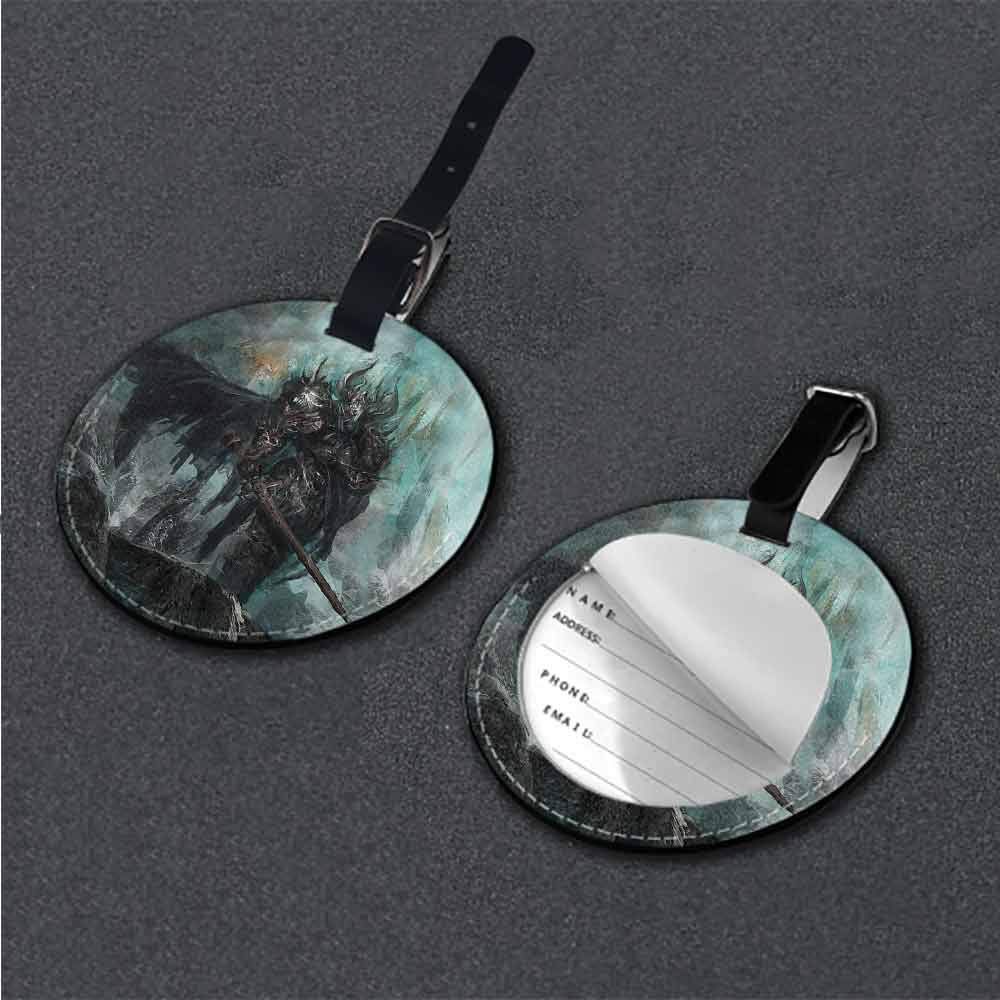 New Creative Luggage Tags Fantasy World,Evil Leader in Field Holder Travel Accessories