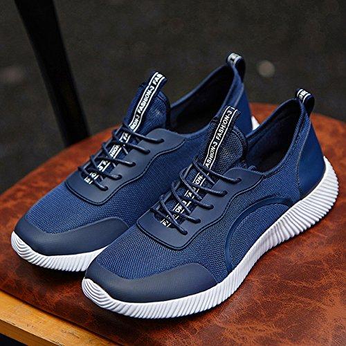 Léger Hommes Femmes Unisexe Couple Casual Mode Sneakers Respirant Sport Athlétique Grande Taille Chaussures Bleu