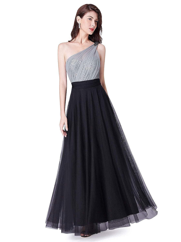 Color Eletina Long/Formal/Dress/for/Women Fashion Sequins Single Shoulder Bridesmaid 07404