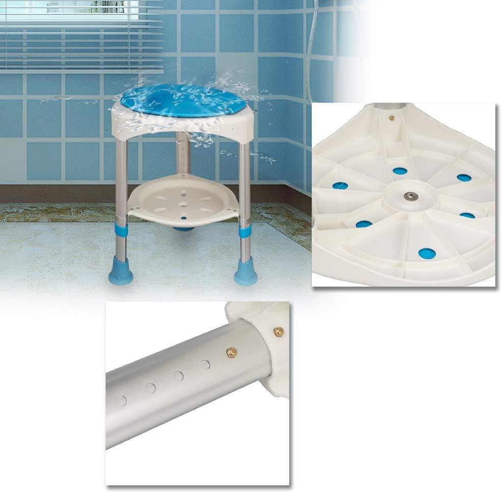 Modello A FROADP Senza-Schienale Sgabello Sedia per Doccia Bagno Altezza Regolabile 36-51cm Antiscivolo per donne anziane e gravide