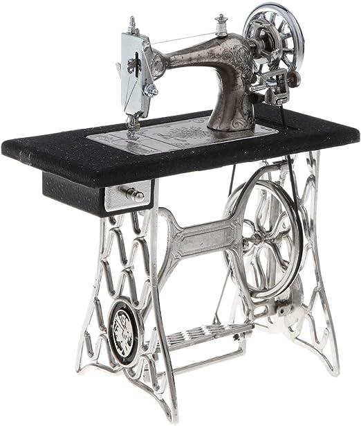 fenteer Mini máquina de coser modelo miniatura Muebles muñeca ...