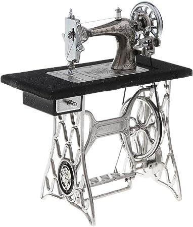 fenteer Mini máquina de coser modelo miniatura Muebles muñeca, regalo para niños: Amazon.es: Hogar