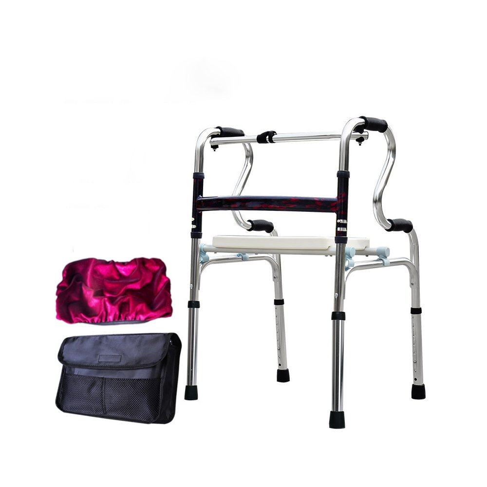 トイレシート 歩いている老人の助けを借りて歩くアルミ合金ベルトホイール4フィートの松葉杖障害のある歩くスティック (色 : C) B07D8J6DKS C C