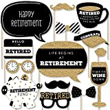 Big Dot of Happiness Happy Retirement - Retirement Party Photo Booth Props Kit - 20 Count
