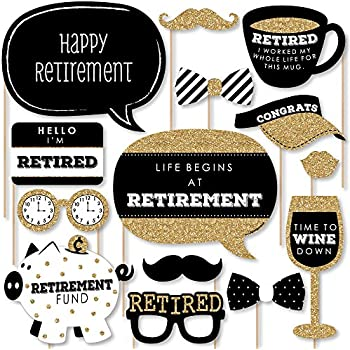 Amazon Com Retirement Photo Booth Props By Partygraphix