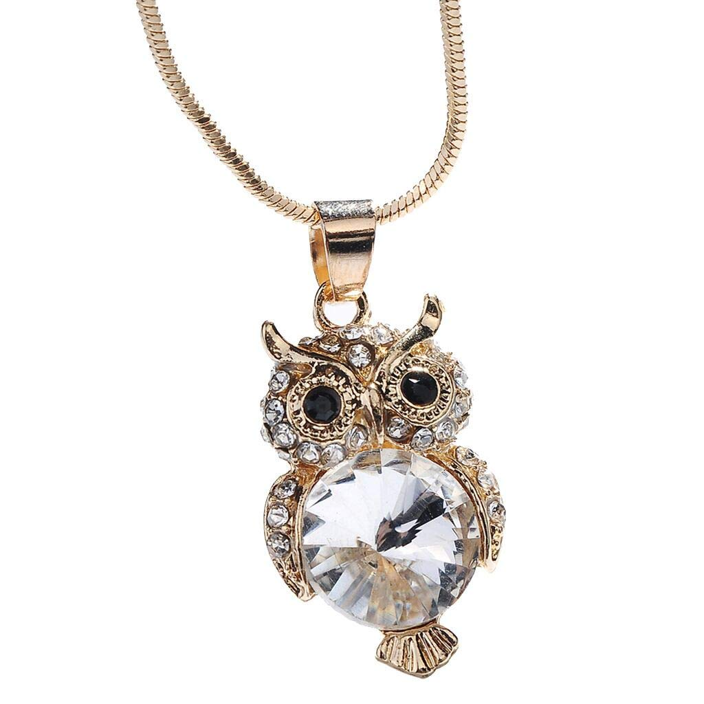 HomeMals Fashion Trend Animal owl Crystal Snake Chain Pendant Pendant Necklace Jewelry Jewelry