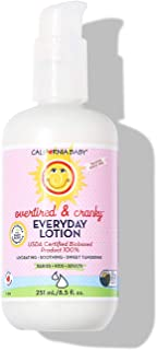 product image for California Baby Overtired and Cranky Everyday Lotion (8.5 Ounces) | 100% Plant-based (excludes water) | Moisturizer for Dry, Sensitive Skin | Post Bath and Diaper Changing