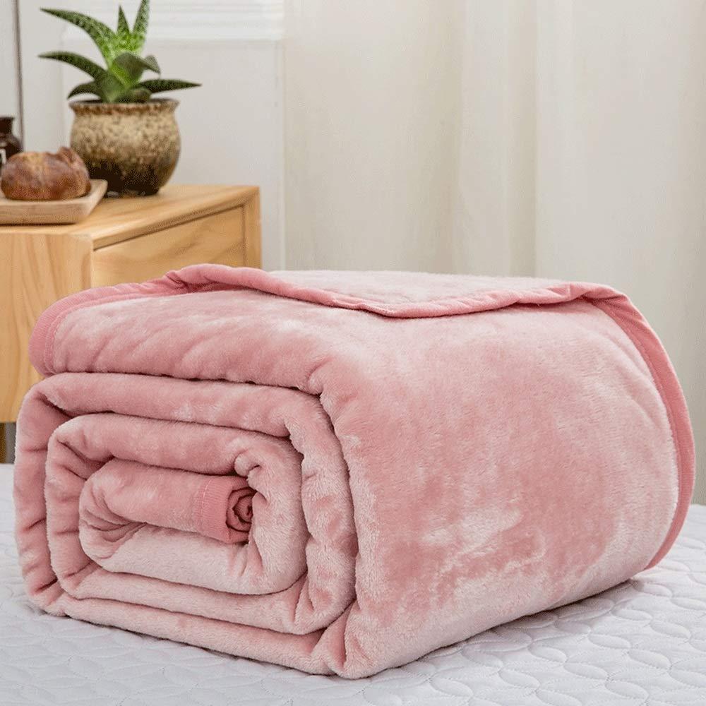 毛布 暖かい 柔軟軽量発熱 吸湿/静電気防止/洗える フランネル ブランケット 発熱効果 衿付き 厚手毛布 ふわふわ 柔らか 静電防止毛布 掛け布団 (Color : 2, Size : 200*230cm) B07R4995M7